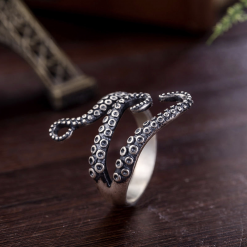 STAINLESS STEEL OCTOPUS RING