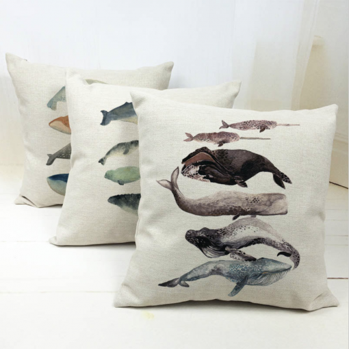 cushion cover whale lovers