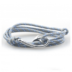 bracelet paracorde hook grey