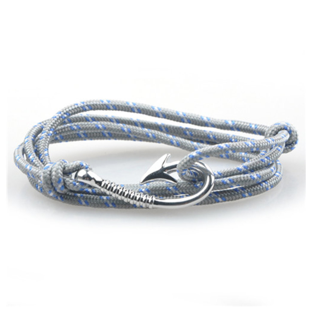 bracelet paracorde hook grey