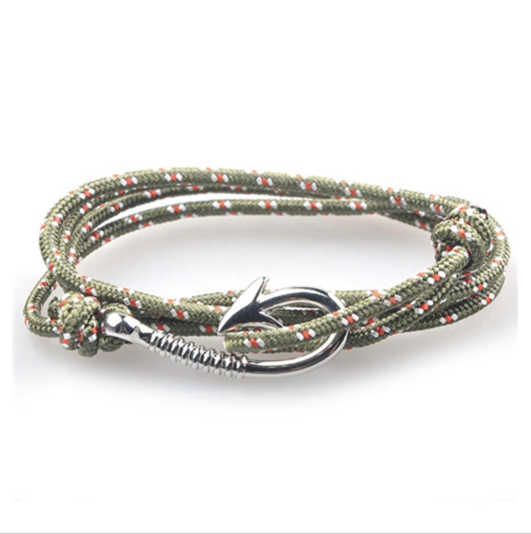 bracelet paracorde hook khakli