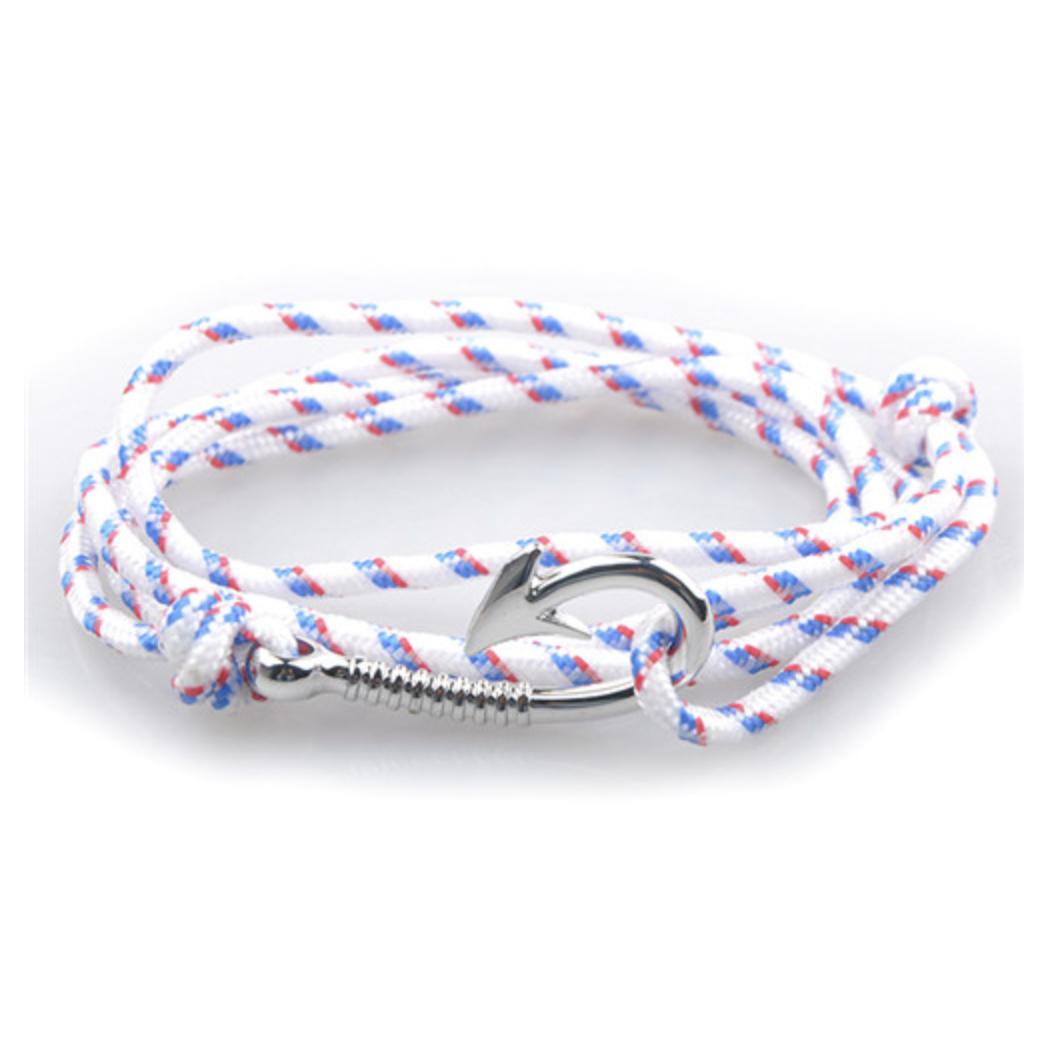 bracelet paracorde hook white
