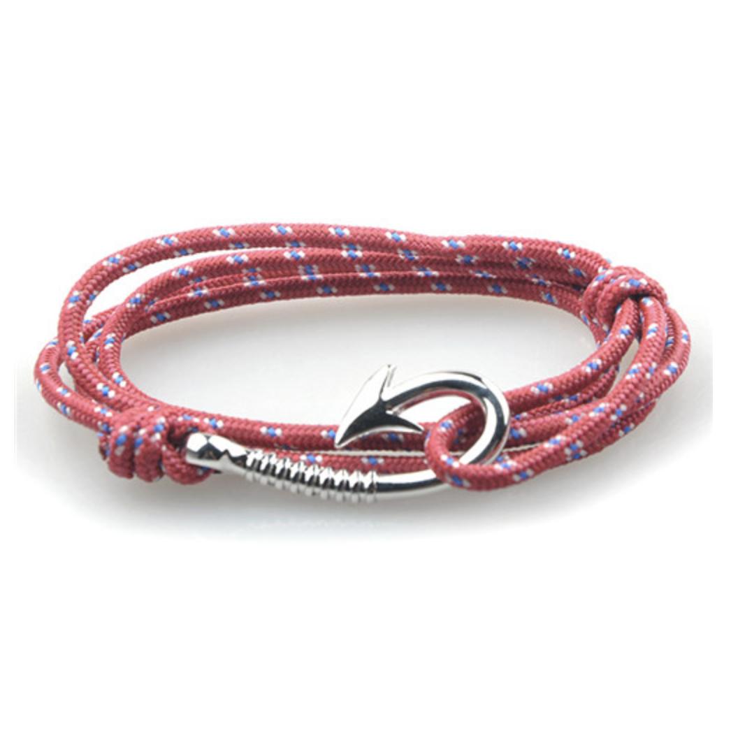 Bracelet Paracorde Hook Red