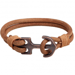brown leather vintage bracelet