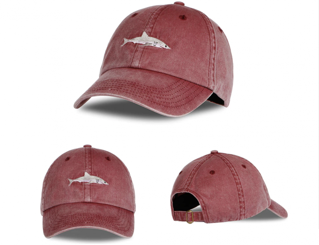 cap shark red