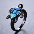opal turtle ring