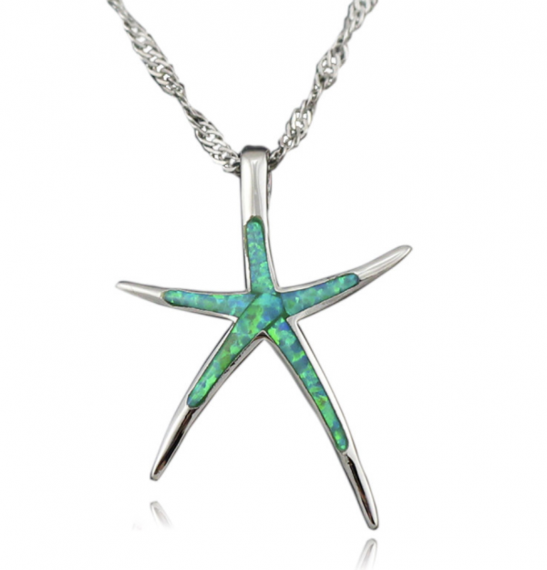 opal starfish necklace