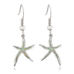 earring starfish opal