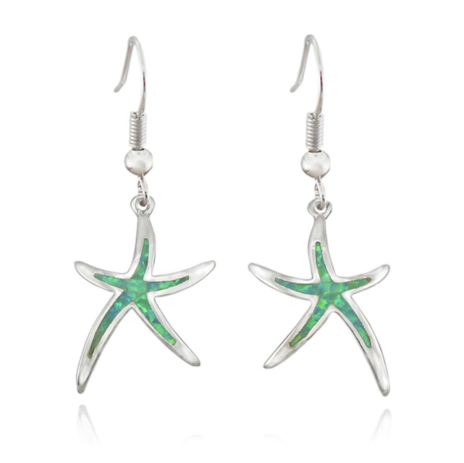 earring starfish green