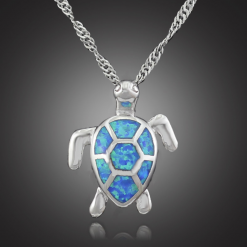 turquoise turtle necklace