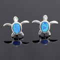 turquoise turtle earring