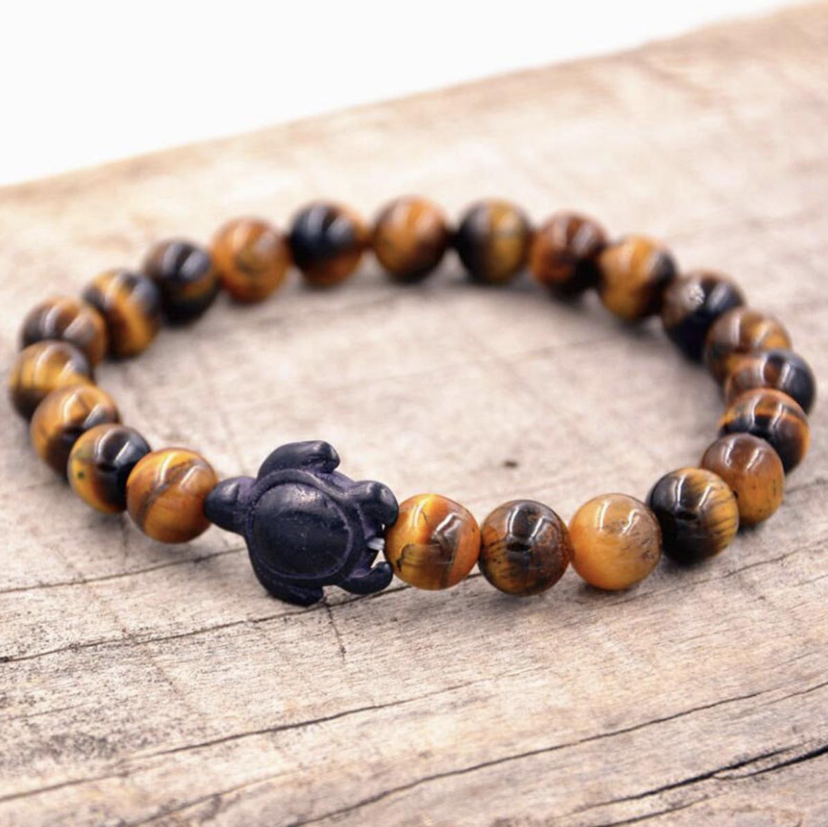 tiger eye turtle bracelet