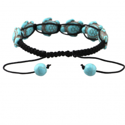 turtle rope bracelet turquoise