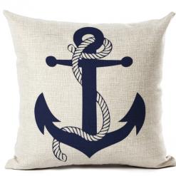 cushion cover blue anchor