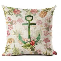cushion cover anchor flower