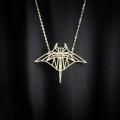 necklace manta ray origami style