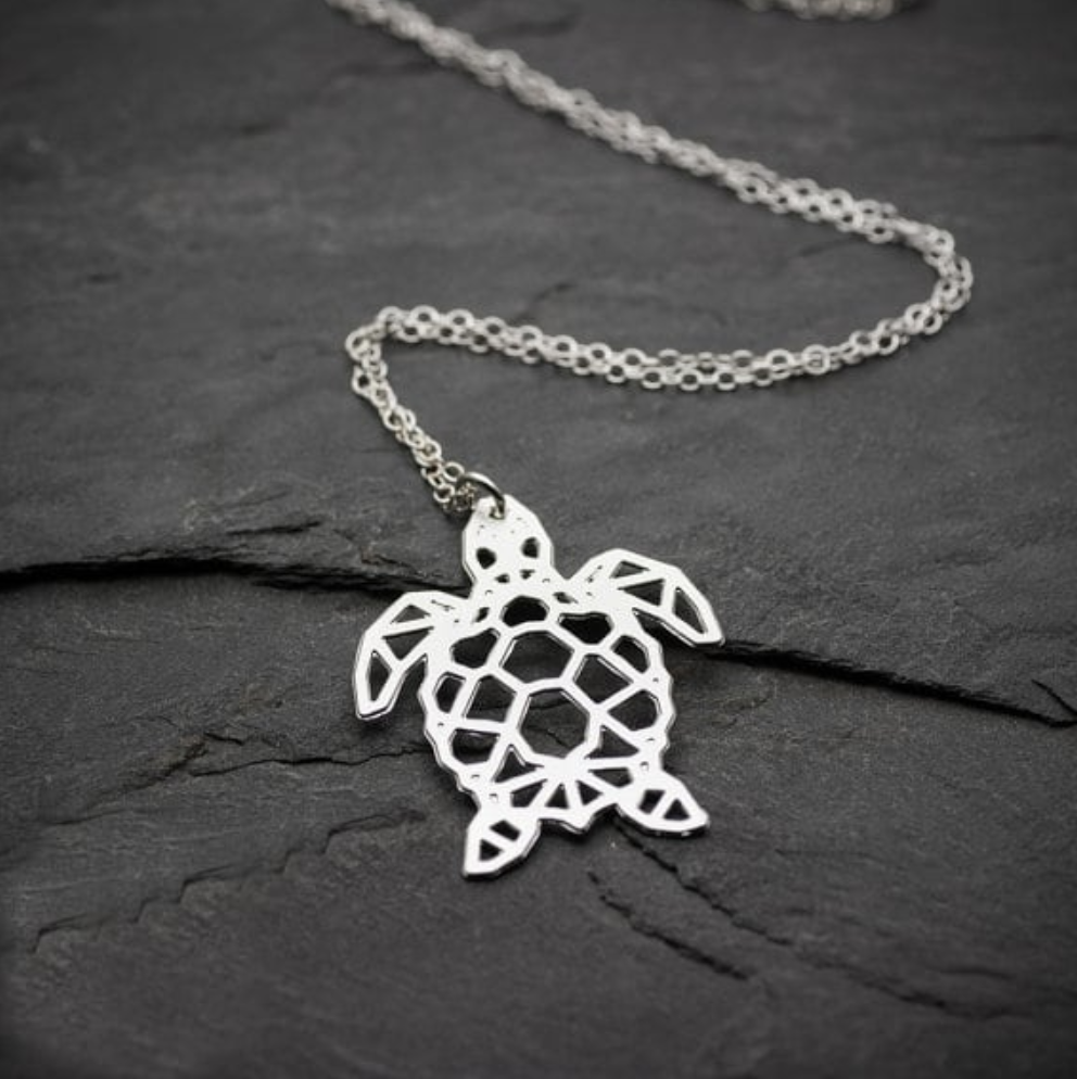 turtle necklace line