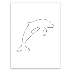 dolphin poster picasso