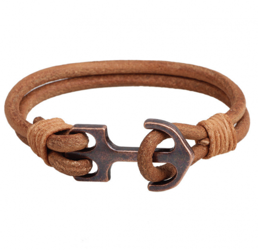 brown leather vintage bracelet