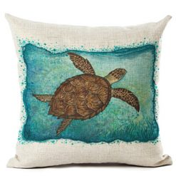 turtle colorful cushion cover