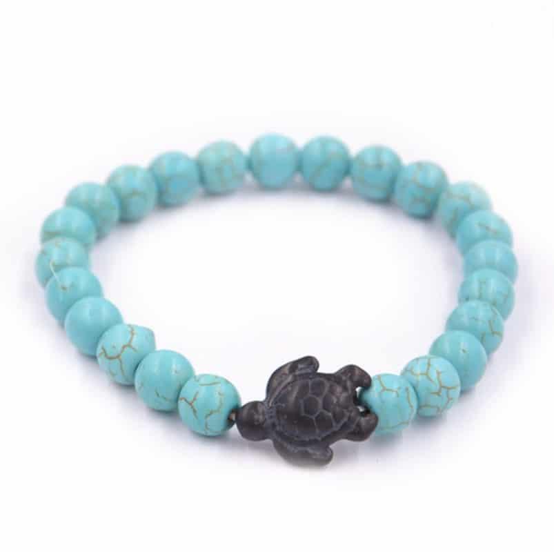 blue sea turtle bracelet