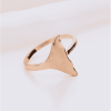 Gold whale tail ring