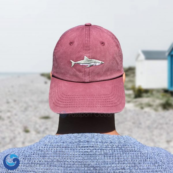 Red shark cap