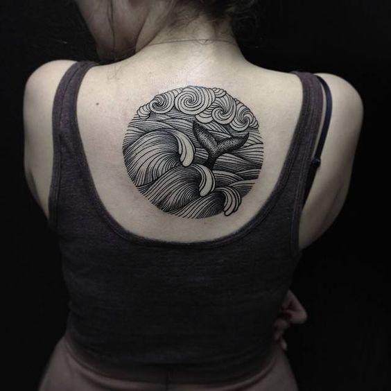 tattoo back ocean lover