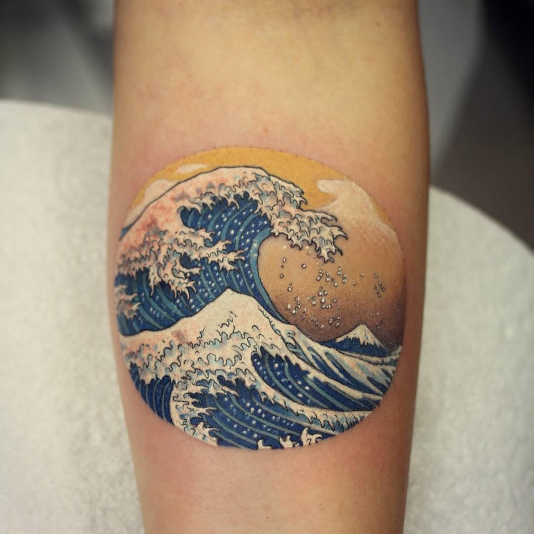 Ocean wave tattoo designs