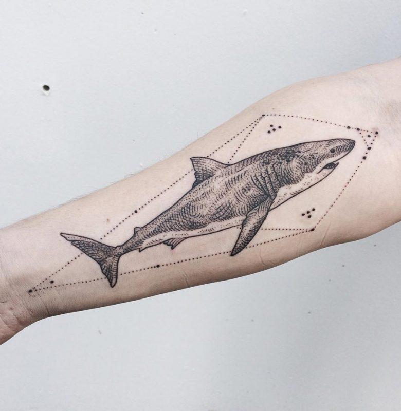 tattoo white shark
