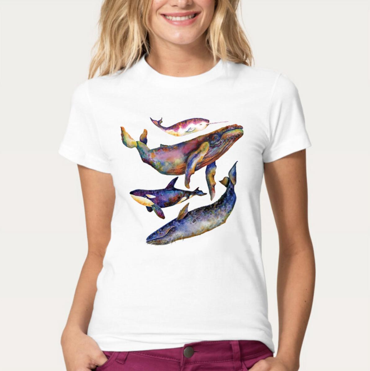 whale thsirt women galaxy
