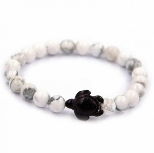 white sea turtle bracelet
