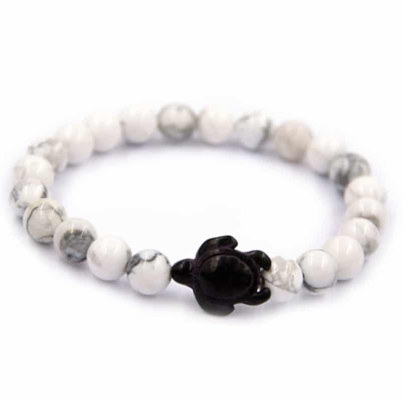 white sea turtle bracelet