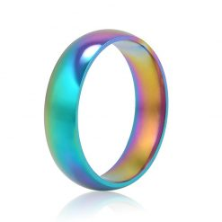 Rainbow shades Stainless ring