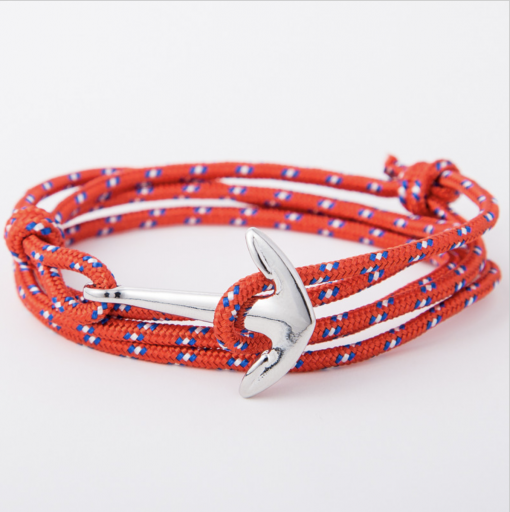 red paracord anchor bracelet