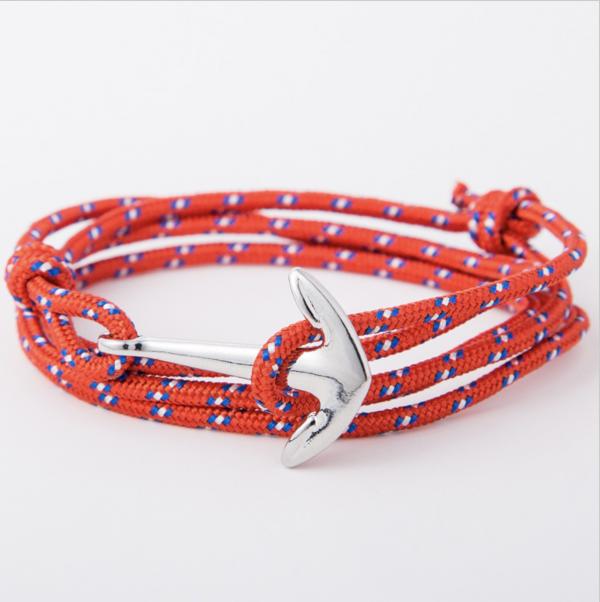 red paracord anchor bracelet