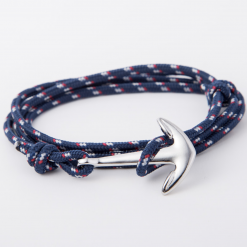 blue paracord anchor bracelet
