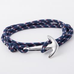 blue paracord anchor bracelet