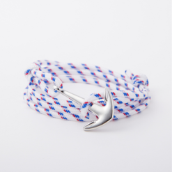 white paracord anchor bracelet