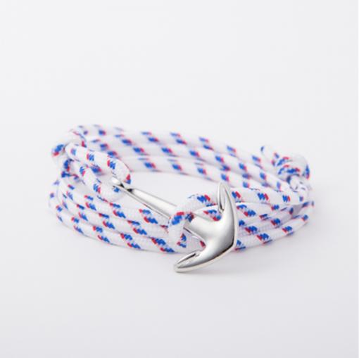 white paracord anchor bracelet