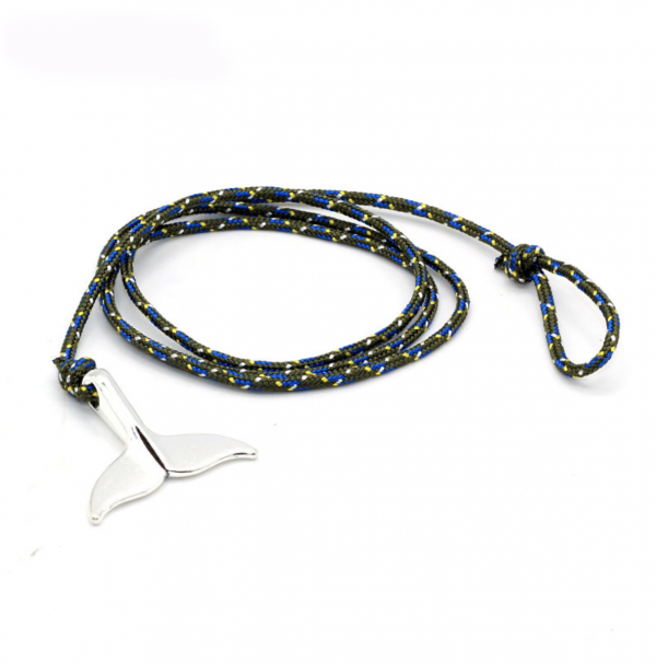 Paracord whale tail bracelet