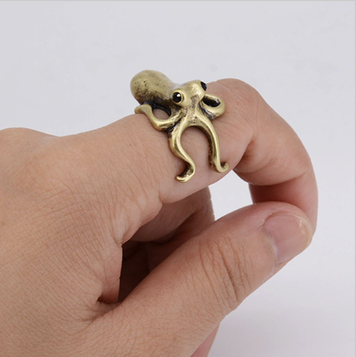octopus ring gold