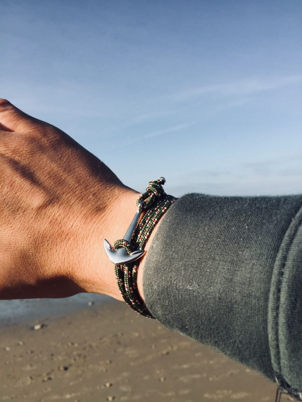khaki anchor bracelet