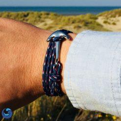 blue anchor paracord bracelet