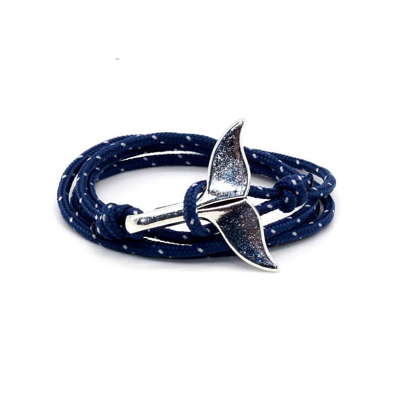 Navy Blue Whale Tail Bracelet