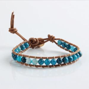 Ocean Blue beaded bracelet