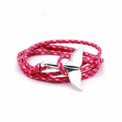 Pink whale tail bracelet
