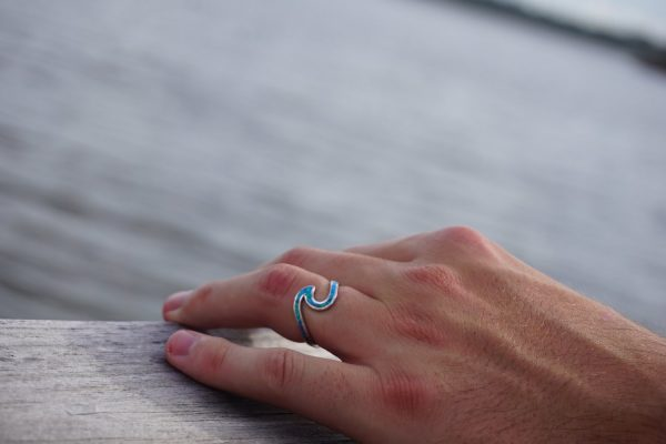 Turquoise wave ring