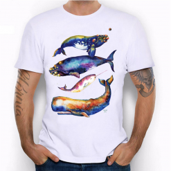 whales multicolor tshirt