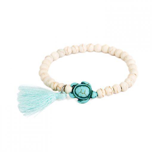 blue white sea turtle bracelet
